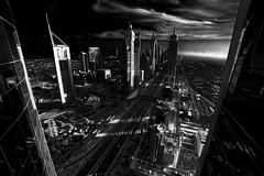 Dark City! (Khaled Bakkora Photograhy) Tags: blackandwhite black arab architecture city cityscape dubai uae