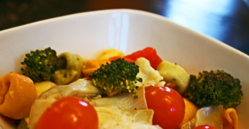 Roasted Vegetable and Lemon Tortellini Pasta