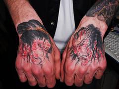 namakubi (tattoo harizanmai) Tags: japan painting crazy kyoto zombie cutting horror murder hokusai grotesque ukiyoe yoshitoshi namakubi kyousai