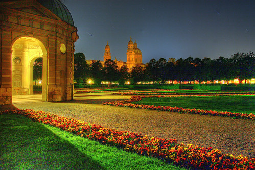 Hofgarten at Night, Munich
