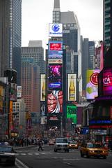 Times Squre (BishRocks) Tags: new york nyc trip travel bridge usa newyork yellow brooklyn america square nikon cab united timessquare times states renata crowds crowded d80 nikond80