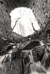 Big bridge, little falls (sskelman) Tags: uk bridge scotland waterfall ancient stream perthshire burn dunkeld birnam birnamhill stairbridge