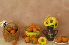 Still life with persimmons