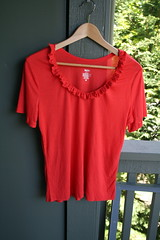 ICC20-Ruffle Collar Shirt
