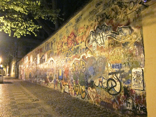 Lennon Wall, at Night