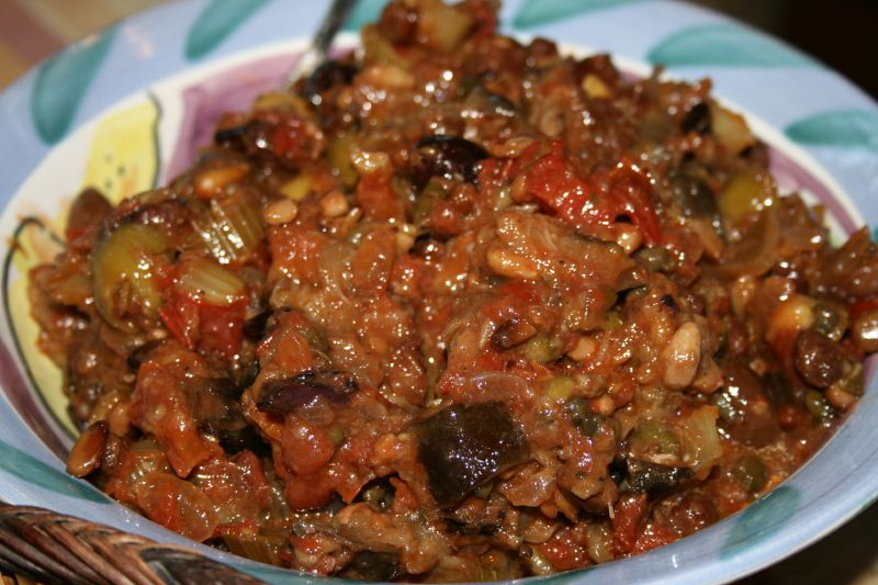 Sicilian Caponata (as bruscetta)