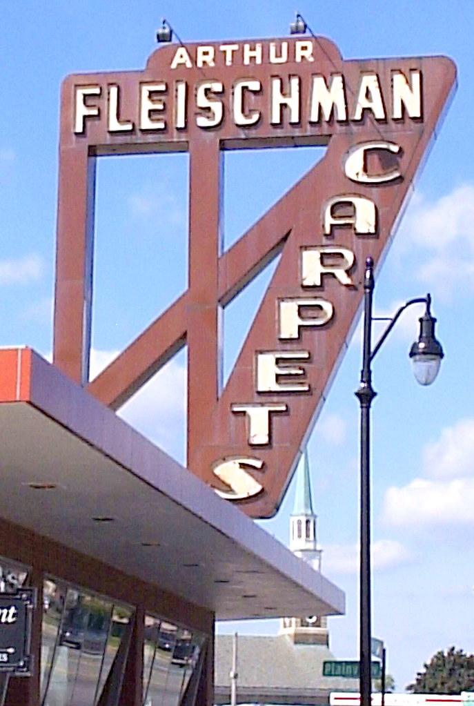 Sign: Fleischman Carpets--Detroit MI