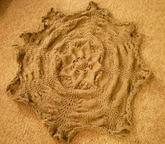 Hemlock Ring Lap Blanket, unblocked