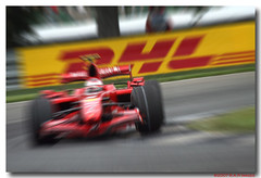 The Scuderia Race for Pole (Next Chapter Photography) Tags: red brazil car sport bar race speed turn kimi one 1 tv track action images f1 ferrari 180 worldwide apex scuderia raikkonen global motorsport fomula countires