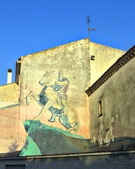 Skanderberg, ururi, molise, murales