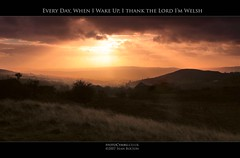 Every Day, when I wake up, I thank the Lord I'm Welsh (Sean Bolton (no longer active)) Tags: sunset wales landscape carmarthenshire cymru wfc catatonia naturesfinest seanbolton internationalvelvet welshflickrcymru