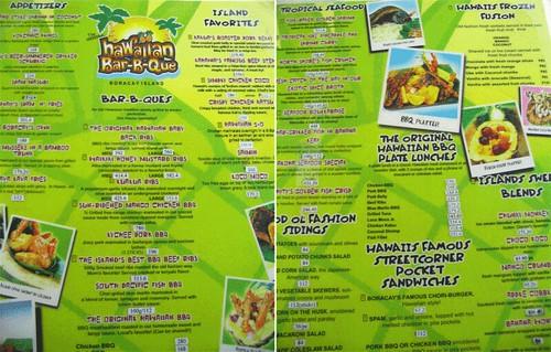 Boracay - Hawaiian BBQ menu