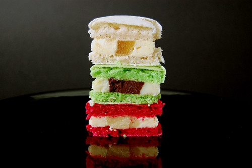 Christmas Macarons Cross Section
