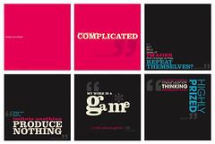 typo postcards part 1 (medialunadegrasa) Tags: typography quotes postcards frases tipografia postales juancarlos