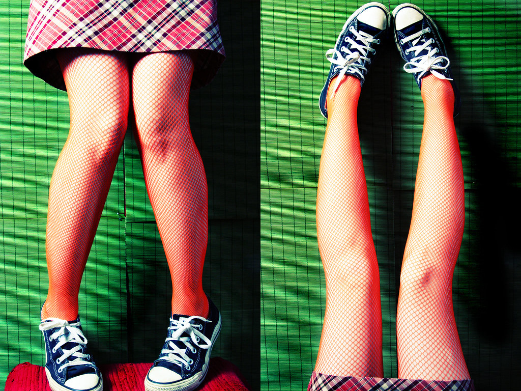 Legs (delinion) Tags  selfportrait green legs fishnet skirt double converse  plaid diamondclassphotographer b6baa1fe4
