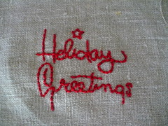 Happy Holidays Embroidery