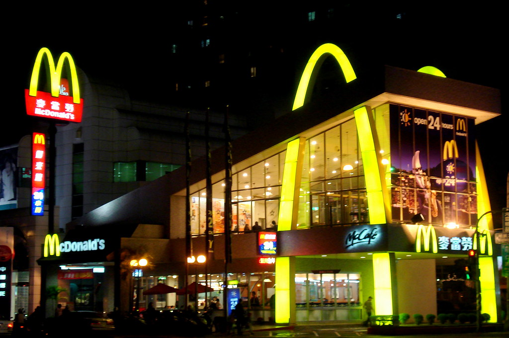 McDonald's @ Night - DSC01359