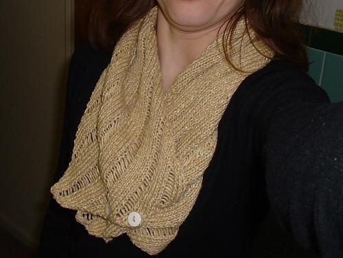 Clapotis neckwarmer scarf