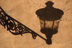 Shadow of a lantern (Rafal Bergman) Tags: shadow italy rome wall lantern