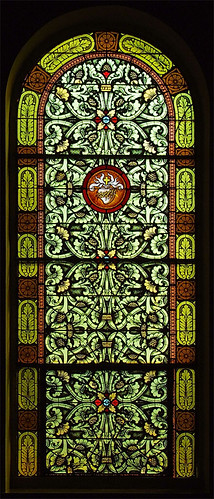 Saint Joseph Roman Catholic Church, in Zell, Missouri, USA - Sacred Heart window