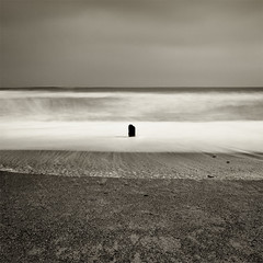 Zen And The Art Of Motorcycle Minimalism (jasontheaker) Tags: ocean uk winter sea storm nature sand waves peace accepted1of100 monotone erosion zen swell humble groynes landscapephotography northsea jasontheaker northyorkshire pprowinner sandsend
