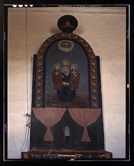 An altar in the church dedicated to the Trinit...