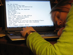 Project 366 - Day 16 (yoshiffles) Tags: me computer laptop moo todo toshiba 365 366 365days