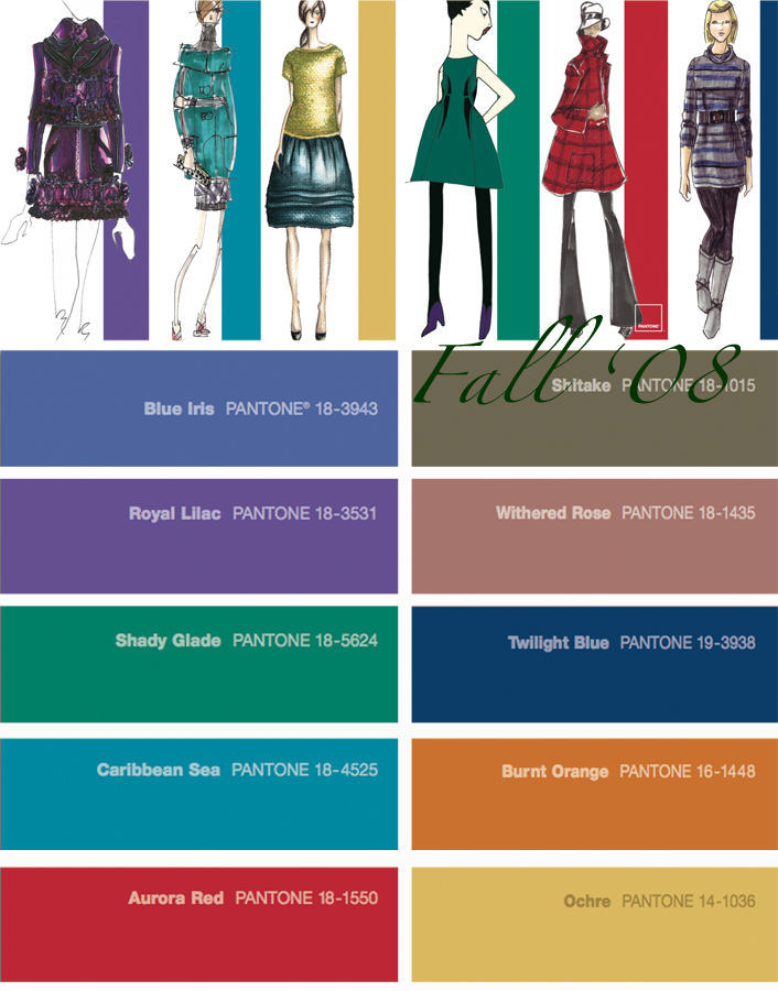 Pantone Color Forecast {Spring + Fall '08}