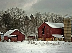 Back Road Farm (newagecrap) Tags: winter wisconsin rural barns farms lyons walworthcounty newagecrapphotography