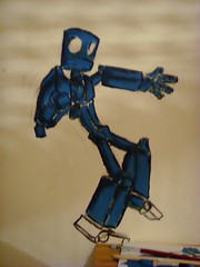 Robot (David Darnes) Tags: stencils castle castles pencil pencils soldier layout graffiti robot sketch hand ships letters websites website weapon don fi walls lettering sketches sci layouts weapons concepts robotic ronman quiotie