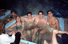 Indoor Hot Tub (Joe Shlabotnik) Tags: andy hottub 1989 natasha benb jarad december1989