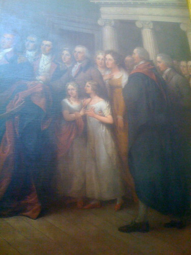 Washington's family drawn into this scene, although not historically accurate