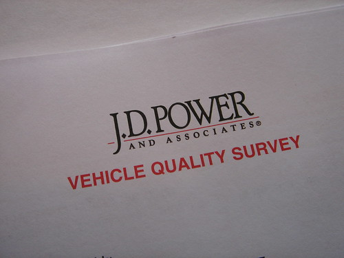 JD Power Survey by nickpiggott @ flickr