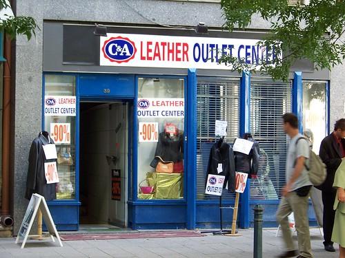 Fake C&A shop In Váci Street, Budapest, Hungary