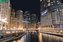 Chicago River, Michigan Avenue (- Anita Ao) Tags: chicago chicagoriver michiganavenue michiganave magnificentmile longexposure slowshutterspeed slowshutter cityscapes america usa windycity chicagoskyline chicagophotography chitown architecture illinois night sky water