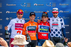 Four Jersey Winners - Tour Down Under 2017 (Serendigity) Tags: stage6 tourdownunder 2017 australia race sa southaustralia adelaide tdu cycling event