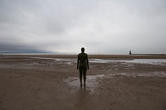 Keep Them Safe (cathbooton) Tags: statue beach crosby sand sea coast anotherplace anthonygormley canoneos canonusers canon6d sky wideangle