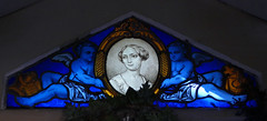 Blue angel children, portrait of a woman - stained glass window (Monceau) Tags: cimetière monumental rouen cemetery blue angel children woman portrait cimetièremonumental