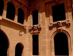 Corrider of Old Courthouse (Jenn (ovaunda)) Tags: california door windows brick architecture concrete downtown cityhall sony landmark historical courthouse ventura friars oldcourthouse dsch5 historialbuildings jennovaunda ovaunda