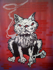Spider's Cat (Leeks) Tags: cat stencil mutant transmetropolitan warrenellis leeks darickrobertson