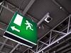 Get Out! (noluck) Tags: green architecture deutschland grey fairground gray grau hannover architektur grün messe cebit halle2 niedersachsen hall2 emergencyexitsign notausgangsschild