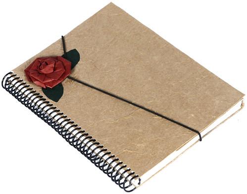 Agenda com Flor de Saco de Cimento Reciclado by PARANOARTE