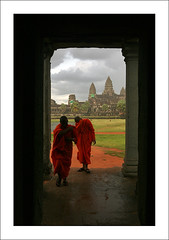 Monks do not like the rain (yanseiler) Tags: world travel work canon temple asia cambodge cambodia kep rice monk buddhism angkorwat hills backpack 5d canon5d siemreap independant kampot bokor sieamreap
