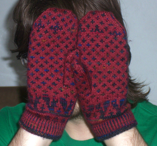 Fronts of mittens
