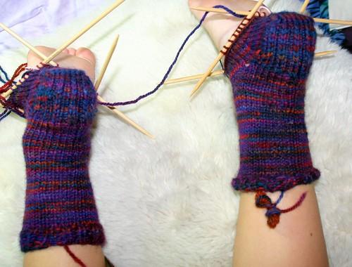 Socks, back