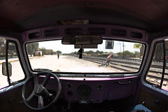 the bicycle against the tracks (Luis Montemayor) Tags: mexico desert jeep tracks acapulco rails desierto inside volante realdecatorce adentro sanluispotosi dflickr dflickr180307