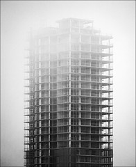 under fog and construction