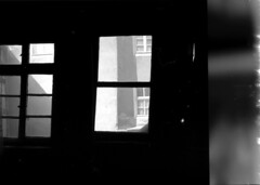 Inside looking out..... (Tobi_2008) Tags: blackandwhite house building window fenster haus schwarzweiss gebäude