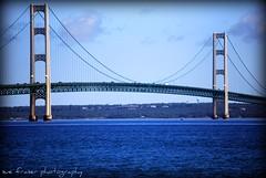 The Mighty Mac (suesue2) Tags: bridge blue summer vacation water michigan mackinacbridge straitsofmackinac suesue2 amazingmich infinestyle
