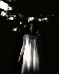 narcolepsy II (TommyOshima) Tags: autumn girl woods pentax takumar 6x7 smc misa narcolepsy photochopped 105mm f24 rdpiii paganpoetry mishan misaitoi
